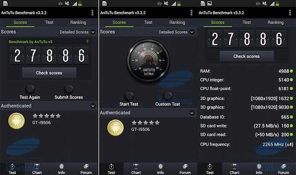 Puntuaciones Samsung Galaxy S4 LTE Advanced
