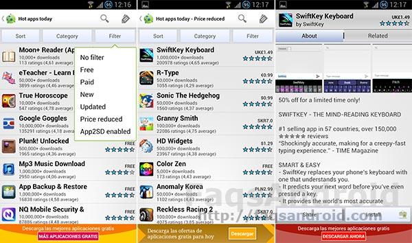 Aplicaciones Android en oferta: AppBrainPWatcher