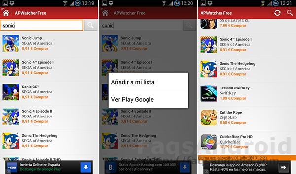 Aplicaciones Android en oferta: APWatcher