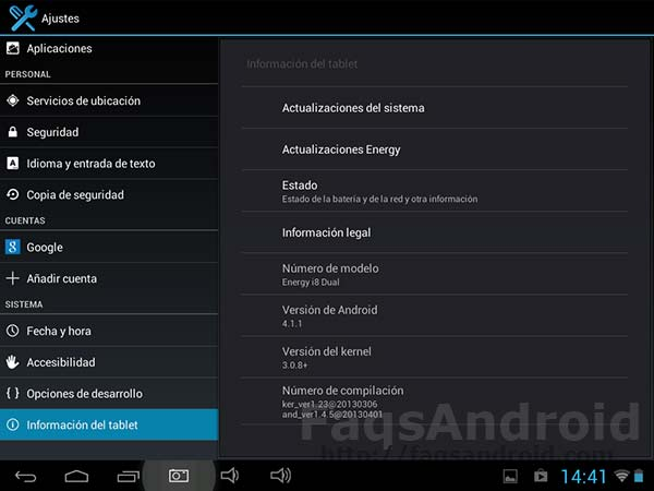 Review de la Energy Tablet i8 Dual de Energy Sistem