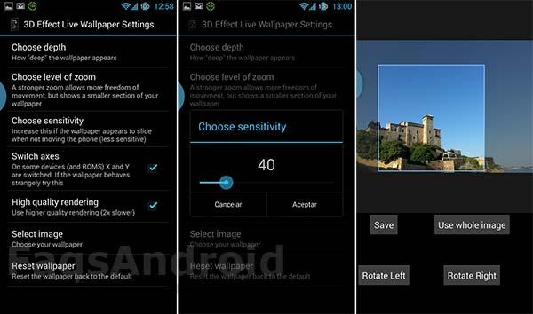 Los 5 mejores fondos de pantalla 3D para Android: 3D-effect Live Wallpaper