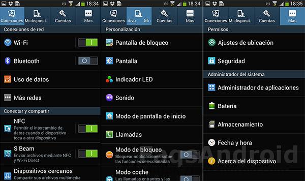Touchwiz: ventajas