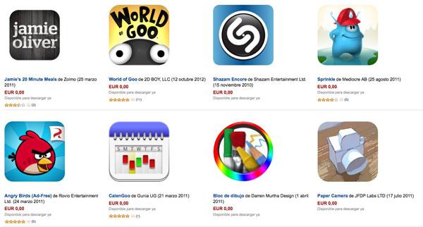 Amazon pone en descarga gratuita 10 aplicaciones android de pago
