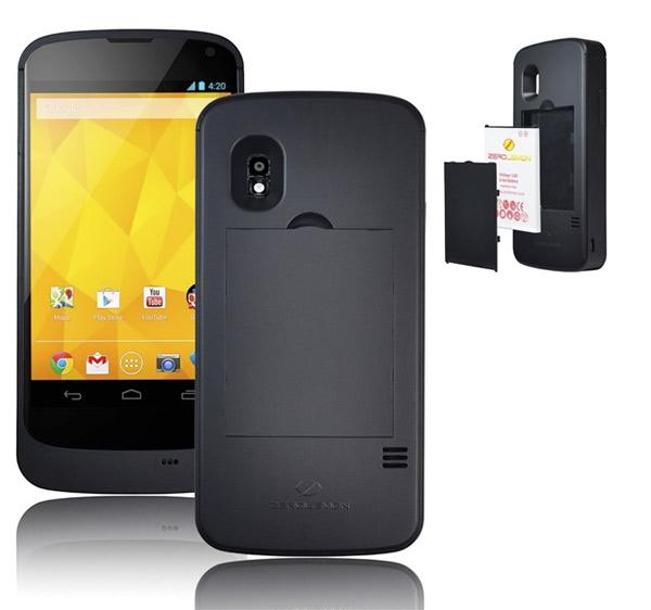 Zerolemon lanza una batería extraíble para el Nexus 4 que duplica la autonomía