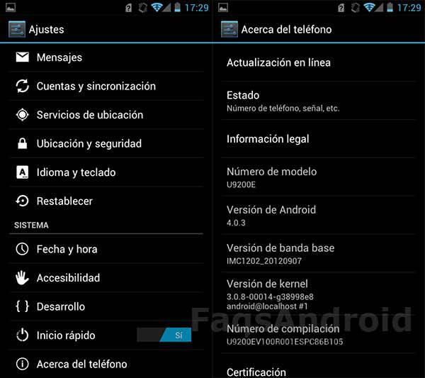Versión de Android