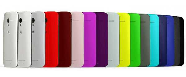 Motorola Moto X colores
