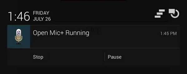 Open Mic Running