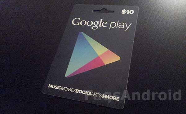 Ya se pueden comprar y canjear las tarjetas regalo de Google Play Store