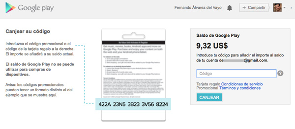En breve tendremos las tarjetas de regalo de Google Play Store en España