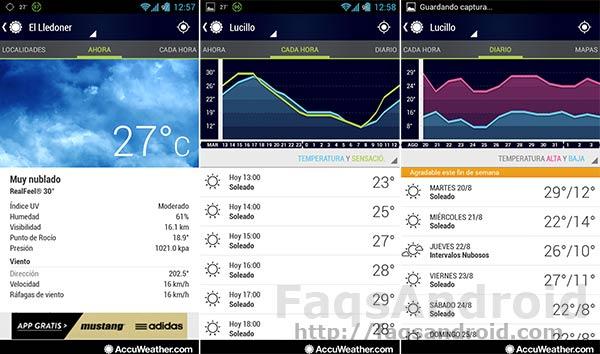 Las 5 mejores aplicaciones del tiempo para Android: AccuWeather