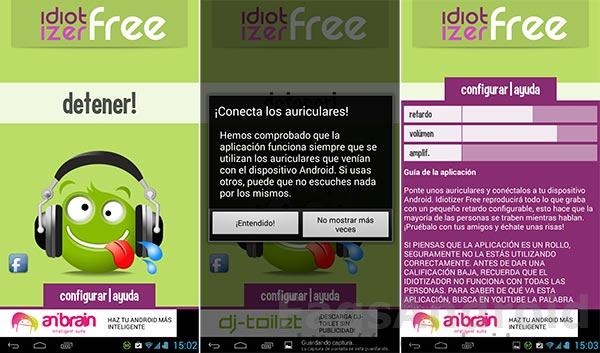 Diez aplicaciones Android chorras: Idiotizador