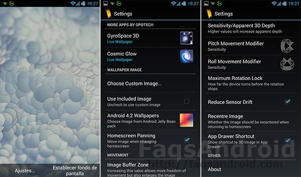 Los 5 mejores fondos de pantalla 3D para Android: Image Live Walppaper