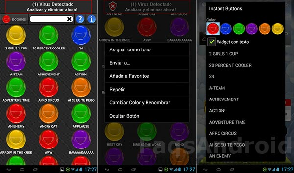 Diez aplicaciones Android chorras: Instant Buttons