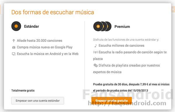 Ya se puede contratar Google Play Music All Access desde España