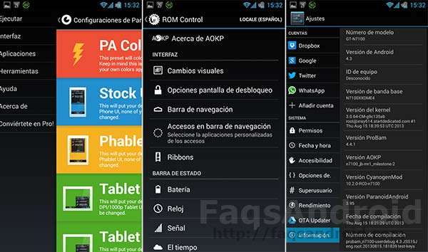 ProBAM para el Samsung Galaxy Note 2: Android 4.3 con Cyanogenmod 10.2