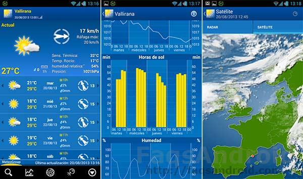 Las 5 mejores aplicaciones del tiempo para Android: WeatherPro