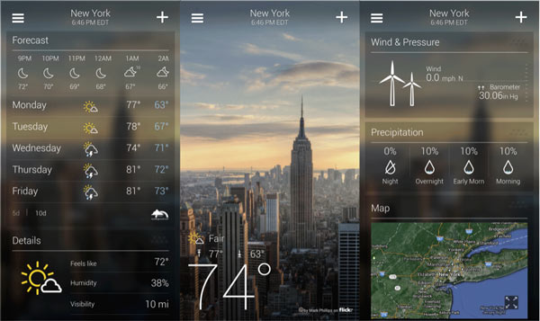 Yahoo Weather para Android