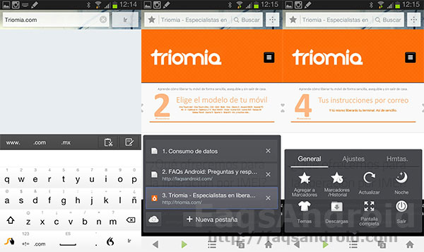 Análisis del navegador web UC Browser para Android