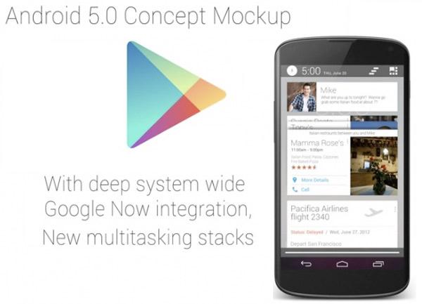 Un vídeo conceptual de Android 5.0, más allá de Android 4.4 Kit Kat