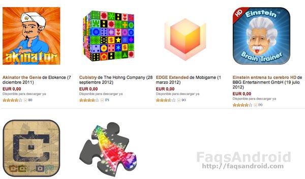 Seis aplicaciones y juegos gratis en la Amazon Appstore