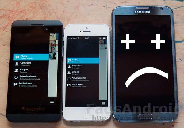Crónica de un lanzamiento desastroso: Blackberry messenger para Android