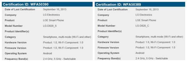 El posible LG Nexus 5 recibe certificación WiFi mostrando dos variantes