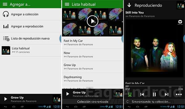 XBOX Music para Android: más competencia para Spotify y Google Play music