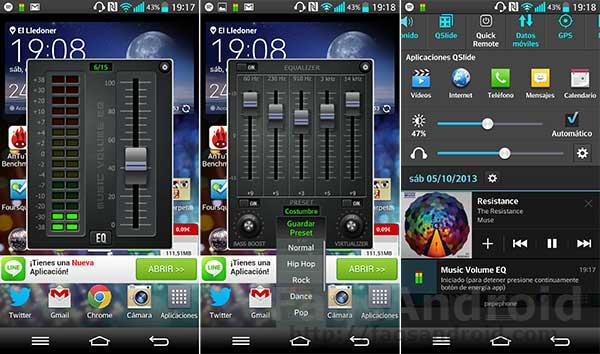 5 aplicaciones para mejorar el sonido en Android: Music Volume EQ