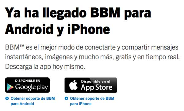 Blackberry Messenger para Android ya en la Play Store según Blackberry