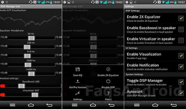 5 aplicaciones para mejorar el sonido en Android: DSP Manager & Equalizer