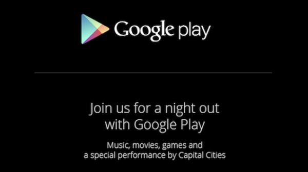 Google confirma un evento sobre Google Play para el 24 de Octubre