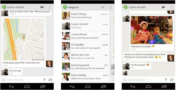 HangOuts da soporte a SMS y GIFs y se acerca a Whatsapp para android