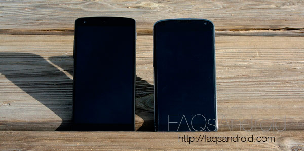 Comparativa Nexus 5 vs Nexus 4 en vídeo HD