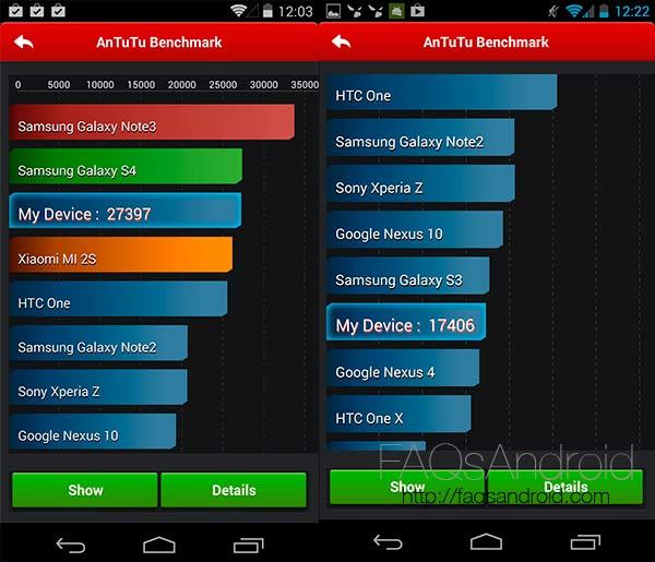 Quadrant y Antutu Nexus 5 y Nexus 4