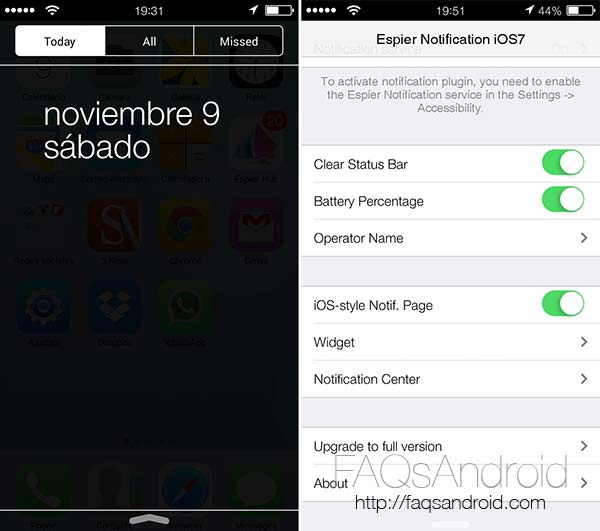 Transforma tu móvil Android en un iPhone con iOS 7