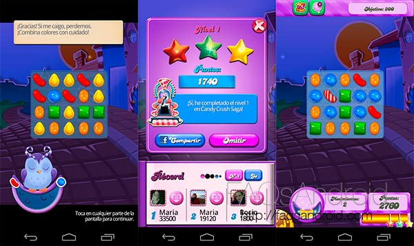 Candy Crush Saga para Android se actualiza con el modo DreamWorld