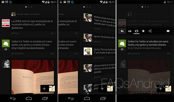 Carbon For Twitter se actualiza con nuevo diseño, más gestos y controles directos