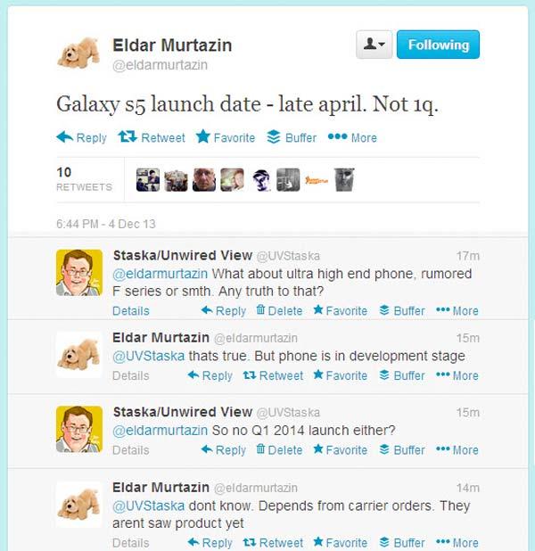 El Samsung Galaxy S5 se lanzaría en Abril y habría un Galaxy F de alta calidad
