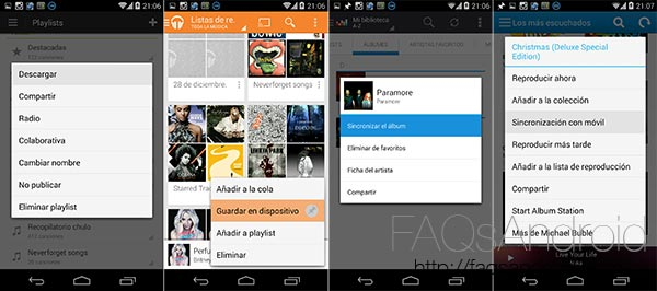 Comparativa de suscripciones de música: Spotify, Google Play Music, Deezer, Rdio