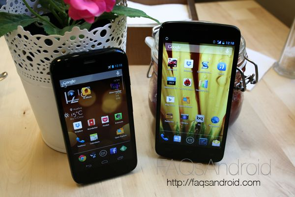 Comparativa BQ Aquaris 5 HD vs Motorola Moto G