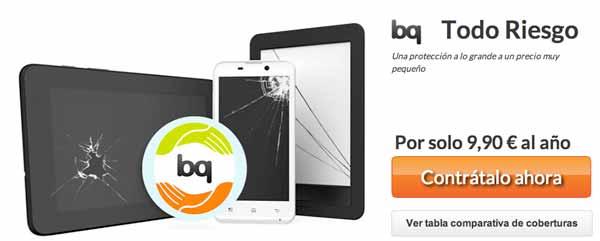 BQ ofrece un seguro para sus móviles Android