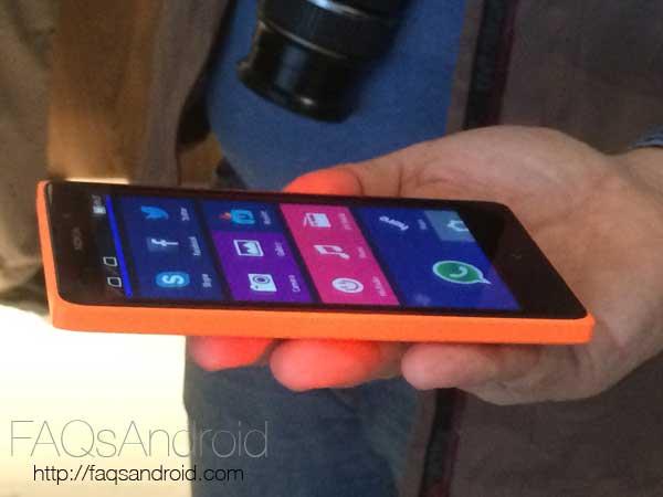 Toma de contacto en vídeo con el Nokia XL con Android en el MWC 14