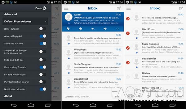 Evomail, un cliente de correo multicuenta compatible con Gmail, Yahoo y otros servicios IMAP