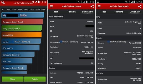 Filtrados los benchmark del posible Samsung Galaxy S5 con más especificaciones