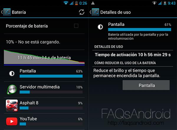 Batería y autonomía del bq Aquaris 5.7
