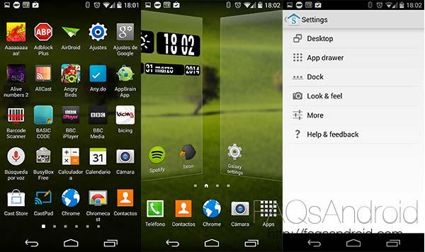 Galaxy Launcher, interfaz gratuita que imita el aspecto del Samsung Galaxy S5