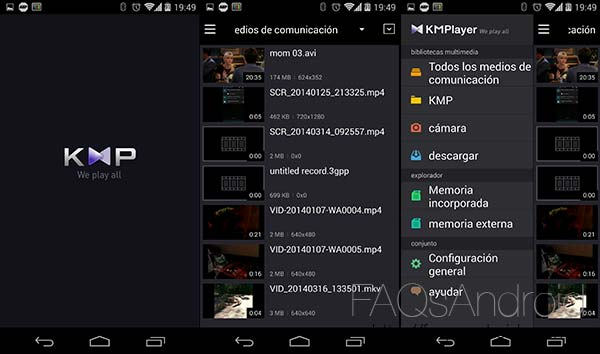 KMPlayer para Android, el famoso reproductor de vídeo ahora en móviles y tablets