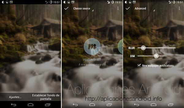 Cinco aplicaciones Android con las que cambiar los fondos de pantalla: Muzei