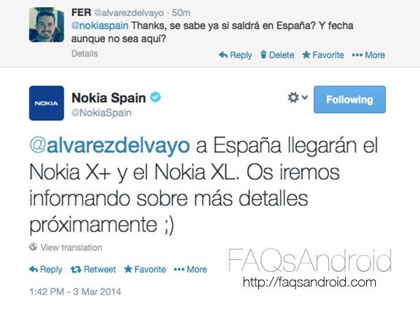 Nokia confirma que el Nokia X+ y Nokia XL llegarán a España