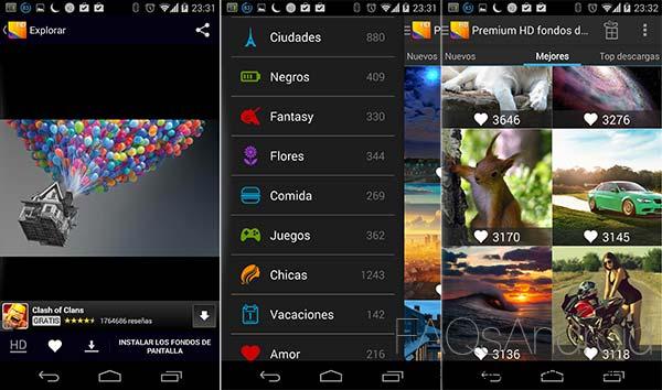 Cinco aplicaciones Android con las que cambiar los fondos de pantalla: Premium HD